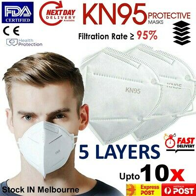 AU18.49 • Buy Face Mask KN95 Particulate Respirator 5 Layers CE Anti Dust Surgical Mask Cover
