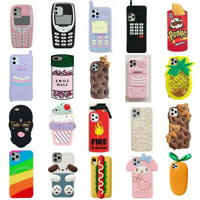 AU7.24 • Buy Case For IPhone 12 11 Pro Max XR 6 8 7 Plus Cute 3D Cartoon Silicone Cover Kids