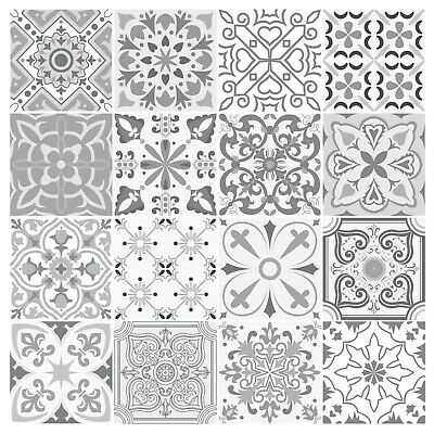Grey Mosaic / Pattern Tile Stickers For 150mm X 150mm/100mm X 100mm Tiles 4/6in • 39.99£