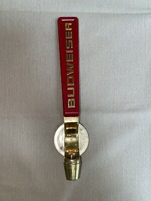 $ CDN59.32 • Buy Budweiser Draft Beer Tap Handle Vintage Rare Red Gold 10 1/2 Inches