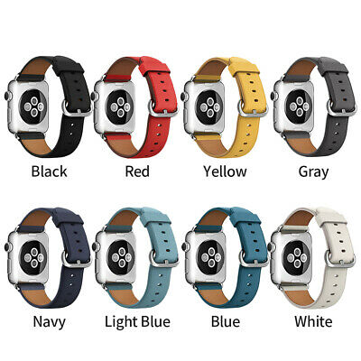 $ CDN5.32 • Buy Leather Bands Wristband Strap For Apple Watch Series 4 3 2 1 38mm/40mm/42mm/44mm