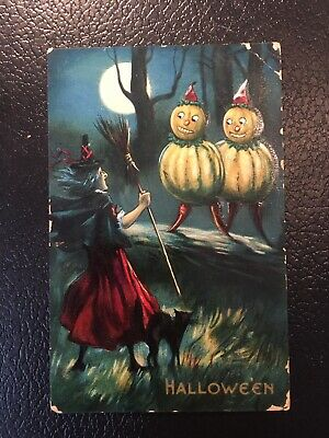 $ CDN86.67 • Buy Rare Valentine And Sons Vintage Halloween Postcard Witch Veggie People