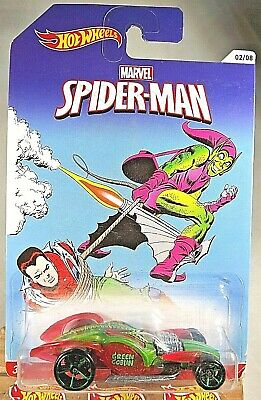 2013 Hot Wheels Marvel Spider-man 2/8 I CANDY Green/TransparentRed W/Green OH5Sp • 7.12£