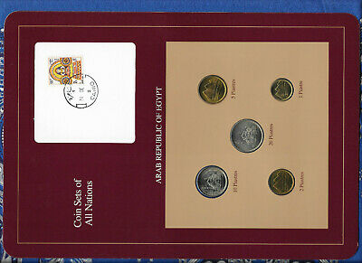 $16.63 • Buy Coin Sets Of All Nations Egypt UNC 1,2,5,10,20 Piastres 1984 Scarce Set