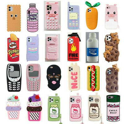 AU6.32 • Buy Case For IPhone 12 11 Pro Max XR 6 8 7 Plus Cute 3D Cartoon Soft Silicone Cover