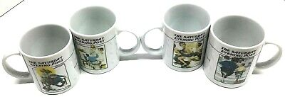 $ CDN38.20 • Buy Vintage 1992 The Norman Rockwell Gallery Mug Coffee Cup Collection Set Of 4 FS
