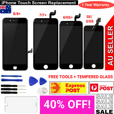 AU32.38 • Buy LCD Touch Screen Replacement Digitizer Assembly IPhone 8 7 Plus 6 6S 5 5s 5C 4