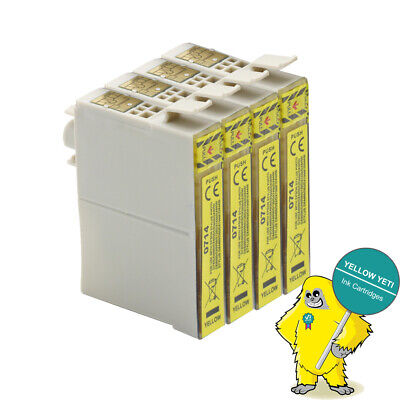 4 Yellow Ink For Epson Stylus DX9400 DX9400F DX7400 DX7450 DX4400 DX4450 NON-OEM • 5.24£