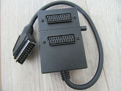2 Way 2 In 1 SCART Switch - Black - Good Condition - Tested • 5£