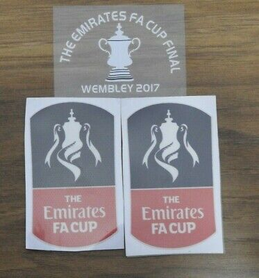£14 • Buy EMIRATES FA CUP FINAL WEMBLEY 2017 Arsenal Official Badge Patch & MDT Logo Set