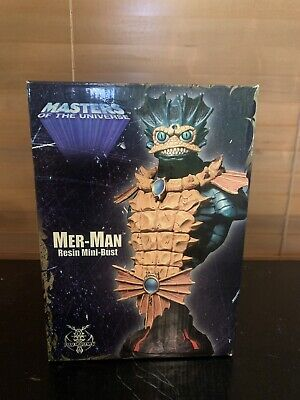 """$65 • Buy Mer-Man Masters Of The Universe Mini-Bust 8"""" Resin Statue By Four Horsemen"""