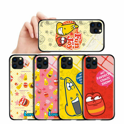 $ CDN5 • Buy Cartoon Funny Larva Red Yellow Glass Case For IPhone 6 7 8 X XR Samsung A20S A10