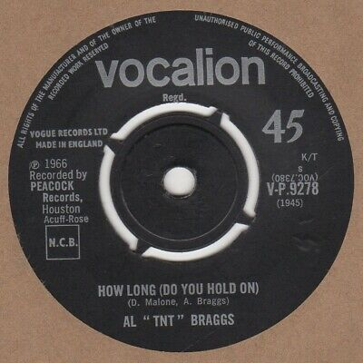Al TNT Braggs How Long Vocalion V-P.9278 Soul Northern Motown • 20£