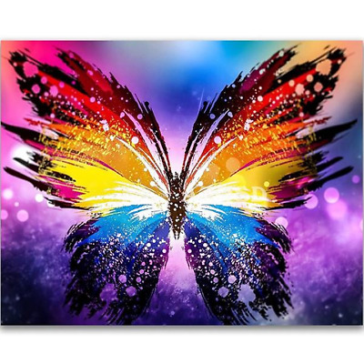 AU27 • Buy DIY 5D Magical Colourful Butterfly Diamond Painting - Full Drill