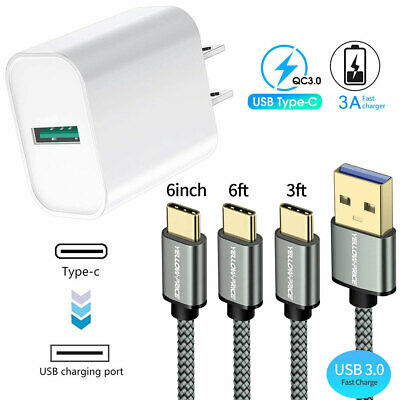 $ CDN44.64 • Buy 3.0 Fast Wall Charger Type-C Cable For Samsung Galaxy S8 S9 S10 S20 Plus Note10