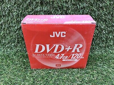 £14.99 • Buy JVC DVD+R Discs Recordable For Video Data 120min 4.7GB  NEW & SEALED (5 DVDS)