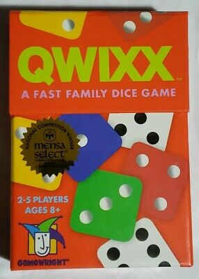 $ CDN14.50 • Buy Qwixx A Fast Family Dice Game. Gamewright 2-5 Players Ages 8+