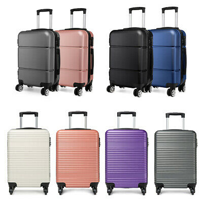 £20.99 • Buy 20inch Hand Cabin 4 Wheels Spinner Trolley Luggage Suitcase Case Bag Lightweight