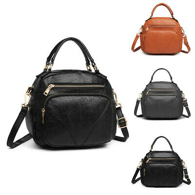 Stylish Women Faux Leather Tote Handbag Ladies Bow Shoulder Cross Body Bag • 13.99£