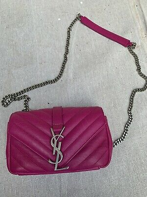 AU1599 • Buy YSL Mini Chevron Woc Pink Bag