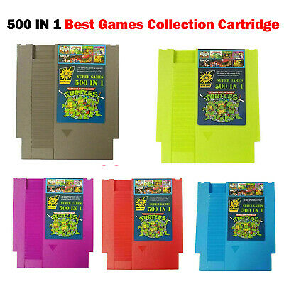 For NES Classic NTSC PAL Consoles 500 In 1 Super Games Card Collection Cartridge • 10.37£