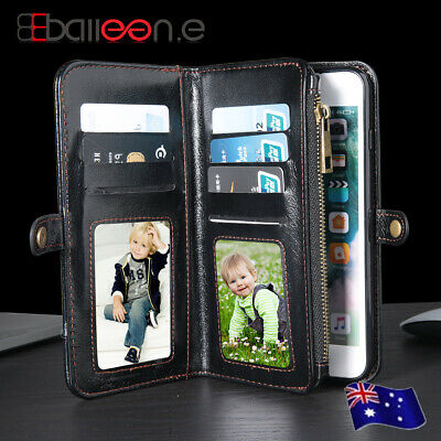 AU13.59 • Buy Zipper Leather Wallet Case Magnetic Flip Cards Cover For IPhone X 8 7 6s Plus