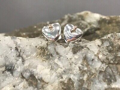 Official Welsh Clogau Gold Silver & Rose Gold Cariad Stud Earrings £25 Off! • 44£