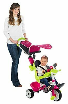 Toddler Pink Comfort Trike With Parent Handle Baby Push Along Tricycle Fun Toy  • 119.63£