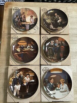 $ CDN13.33 • Buy Norman Rockwell's Light Campaign Collectors Plate- Lot Of 6 With COA