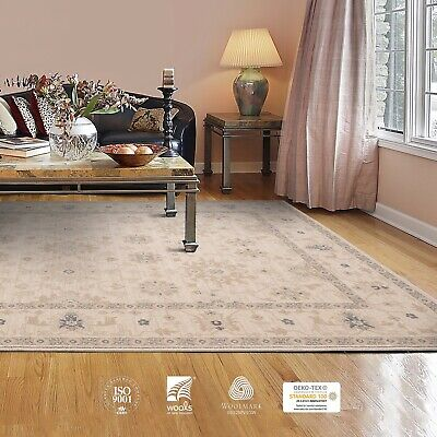Premium Quality Faded Afghan Ziegler Style Wool Tribal Beige Blue Beige Area Rug • 59.10£