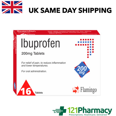 16x Pain Relief Tablets 200mg | Anti-Inflammatory | MAX 2 Packs Per Order • 2.35£