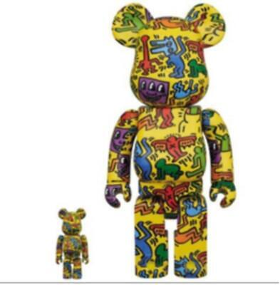 $260 • Buy Medicom Toy BE@RBRICK KEITH HARING #5 100% & 400% Figure Limited From Japan