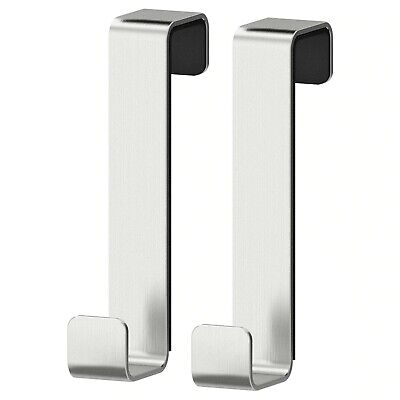 IKEA LILLÅNGEN Door Hanger Hooks Over Door Stainless Steel Pack Of 2 New • 4.99£
