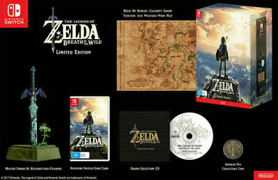 AU359.99 • Buy The Legend Of Zelda Breath Of The Wild Limited Edition , Nintendo Switch , NEW