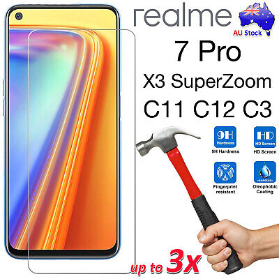 AU7.99 • Buy 9H Tempered Glass | Film Screen Protector For Realme 7 Pro X3 C11 C12 C3 6 5