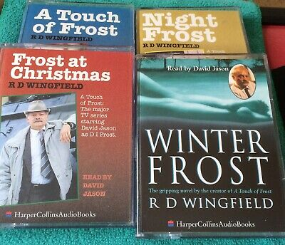R D Wingfield.Night Frost+ Winter+A Touch Of+ At Christmas=4 Cassette Audiobooks • 12.99£