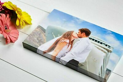 CANVAS PRINT Personalised Your Photo/Picture Box Framed Ready To Hang • 9.49£