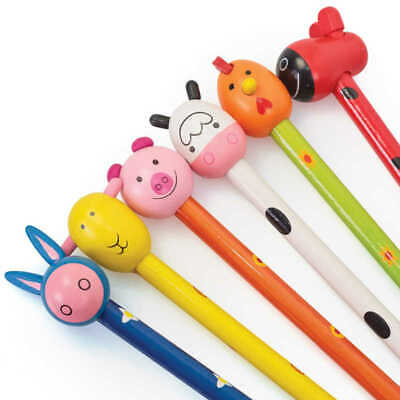 £2.65 • Buy Animal Children Pencil With Wooden Topper Stationery Party Bag Stocking Filler