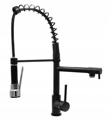 £89.99 • Buy Black Double Kitchen Tap Faucet Sink Brass Pull Out  Granite Speckled 263
