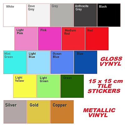 Tile Stickers Transfers Kitchen Bathroom Self Adhesive Decals 150x150mm ( 6 ≈)* • 4.04£