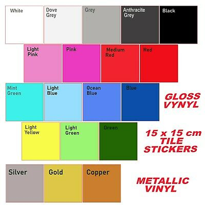 Tile  Stickers Transfers Kitchen Bathroom Self Adhesive Decals 150x150mm  (6 ≈) • 4.04£