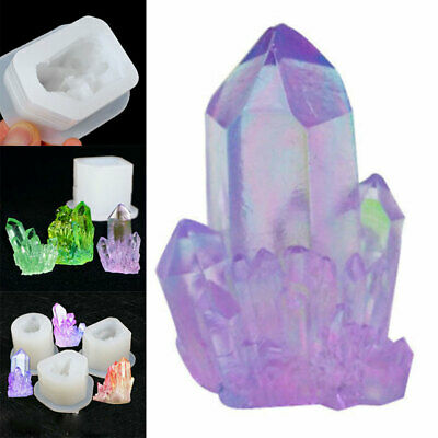 Silicone 3D Crystal Cluster Stone Resin Casting Mold Jewelry Making Mould DIY UK • 6.11£