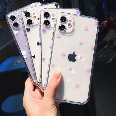 AU4.49 • Buy For IPhone 11 Pro Max XS XR X 8 7 SE 2020 Slim Cute Heart Clear Soft Case Cover