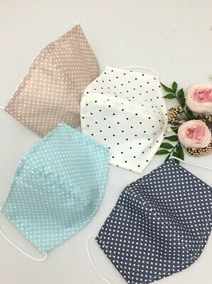 AU50 • Buy 4pc X Triple Layer (3 Layers)  Washable Fabric FACE MASK