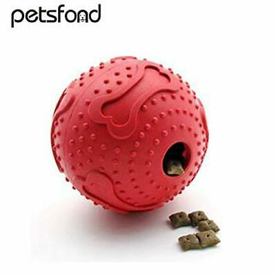 Red Rubber Dog/cat Treat Ball For Interactive Play And Boredom Breaker • 5.99£