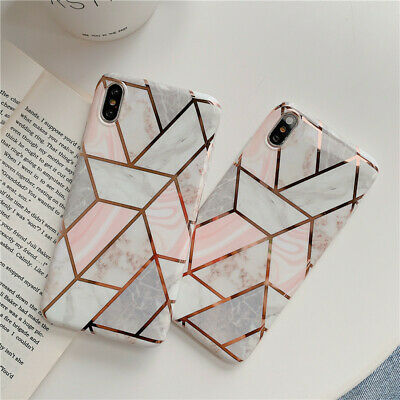 AU7.99 • Buy For IPhone XR XS MAX X 8 7 Case Soft TPU Marble Shockproof Silicone Gel Cover