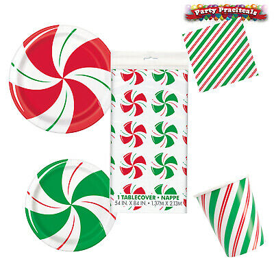 £3.49 • Buy Christmas Peppermint Swirl Candy Design Party Tableware