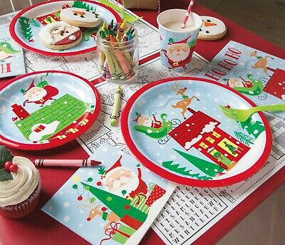 £2.99 • Buy Christmas Colourful Santa Tableware, Tablecover Plates Cups Napkins Or Balloons