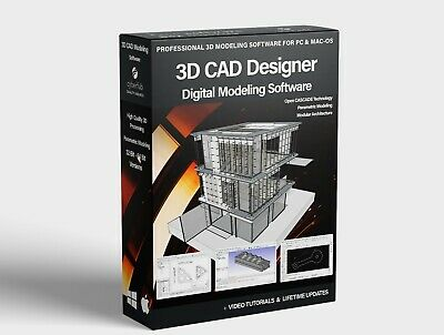 3D CAD Computer Aided Design Modeling Designer Software Package For PC & Mac OSX • 14.95£