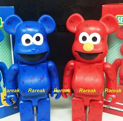 $372.99 • Buy Medicom Be@rbrick Sesame Street 400% Elmo & Cookie Monster Bearbrick 2pcs